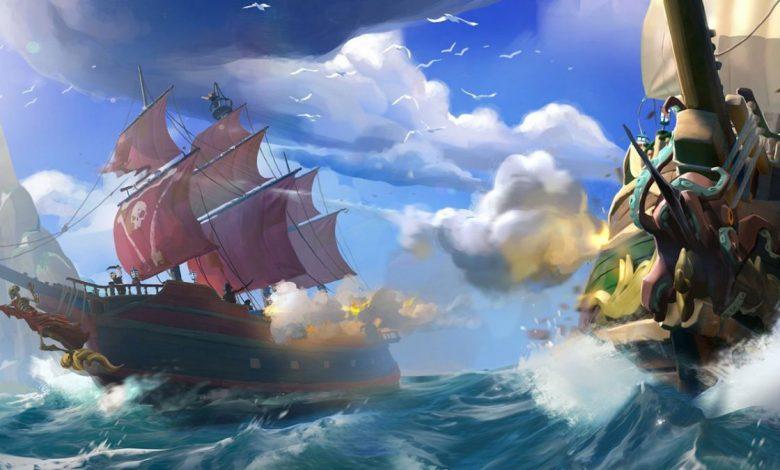 مشاركة الذهب مع الحلفاء في لعبة بحر اللصوص