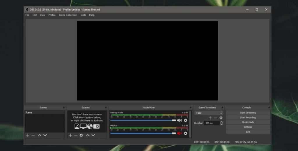 تسجيل شاشة ويندوز 10 باستخدام برنامج OBS 1