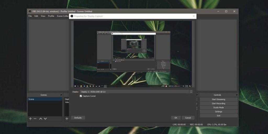 تسجيل شاشة ويندوز 10 باستخدام برنامج OBS 3