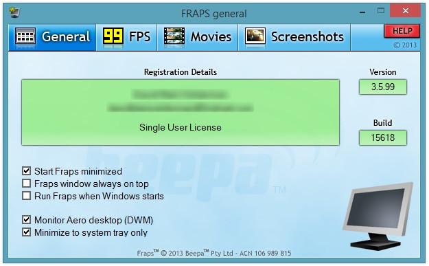 تحميل FRAPS على ويندوز 10 وطريقة استخدامه