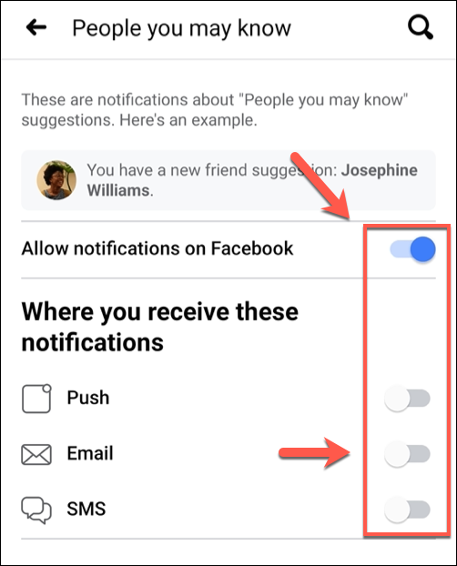 إيقاف خاصية اقتراحات الأصدقاء على فيسبوك 9