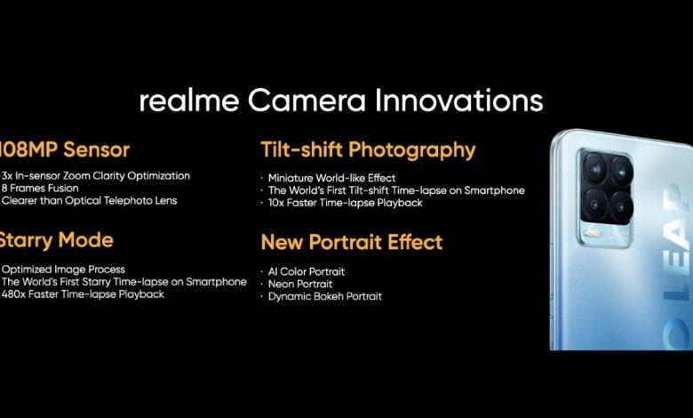 موبايل Realme 8 Pro قادم في 24 مارس مع كاميرا 108 ميجابكسل