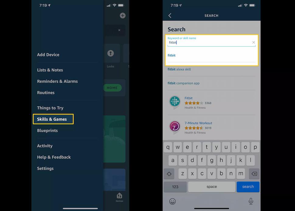 كيفية ربط Fitbit بالمساعد الصوتي أليكسا 1